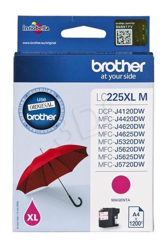 BROTHER Tusz Czerwony LC225XLM=LC-225XLM, 1200 str.