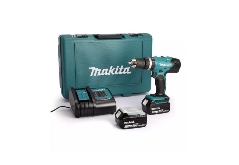 Makita DHP453SFE jest nieźle wyposażoną tanią makitą