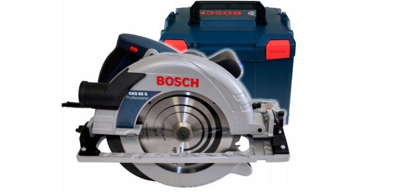 Bosch GKS 85 G 060157A900 na białym tle