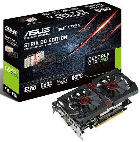 Asus GeForce CUDA GTX750Ti STRIX 2GB DDR5 128BIT DV/HD/DP BOX