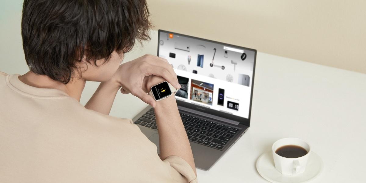 Xiaomi Mi Watch Lite poinformuje o bezczynności