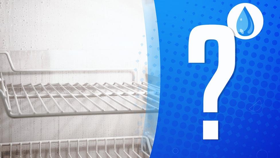 Woda w lodówce - Dlaczego się zbiera?