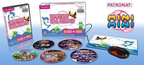 IQ Publishing Zestaw 5 gier dla dzieci + mysz optyczna i podk.