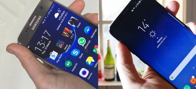Porównanie ekranów w Samsung Galaxy s8 vs s7