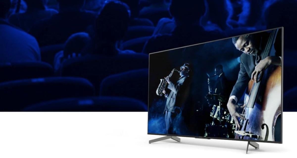 Muzyk na ekranie Sony XG85