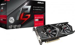 ASRock Phantom Gaming X Radeon RX570 4G OC GDDR5 (256 bit) HDMI, DVI,