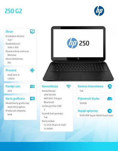 HP 250 G2 i3-3217U W8.1 500/4G/DWRW/15,6 J0Y15EA