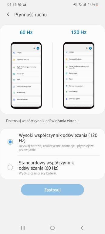 Samsung Galaxy S20 Ultra nie zaoferuje 120 Hz w maksymalnej rozdzielczości