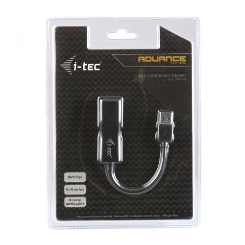 i-Tec USB 2.0 Fast Ethernet Adapter karta sieciowa USB 10/100 Mbps