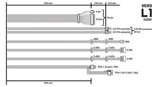 SilentiumPC Vero L1 500W PSU 80Plus 2xPEG