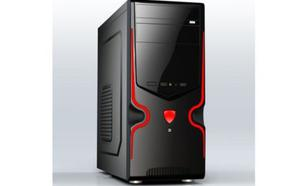 Gembird Midi Tower ATX USB 3.0 black/red CCC-GJ-09-R