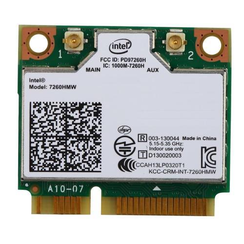 Intel Dual Band Wireless-N 7260, 2x2 AGN, HMC - NO BT
