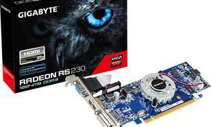 Gigabyte Radeon R5 230 GV-R523D3-1GL 64bit/DVI-D/HDMI/Dsub