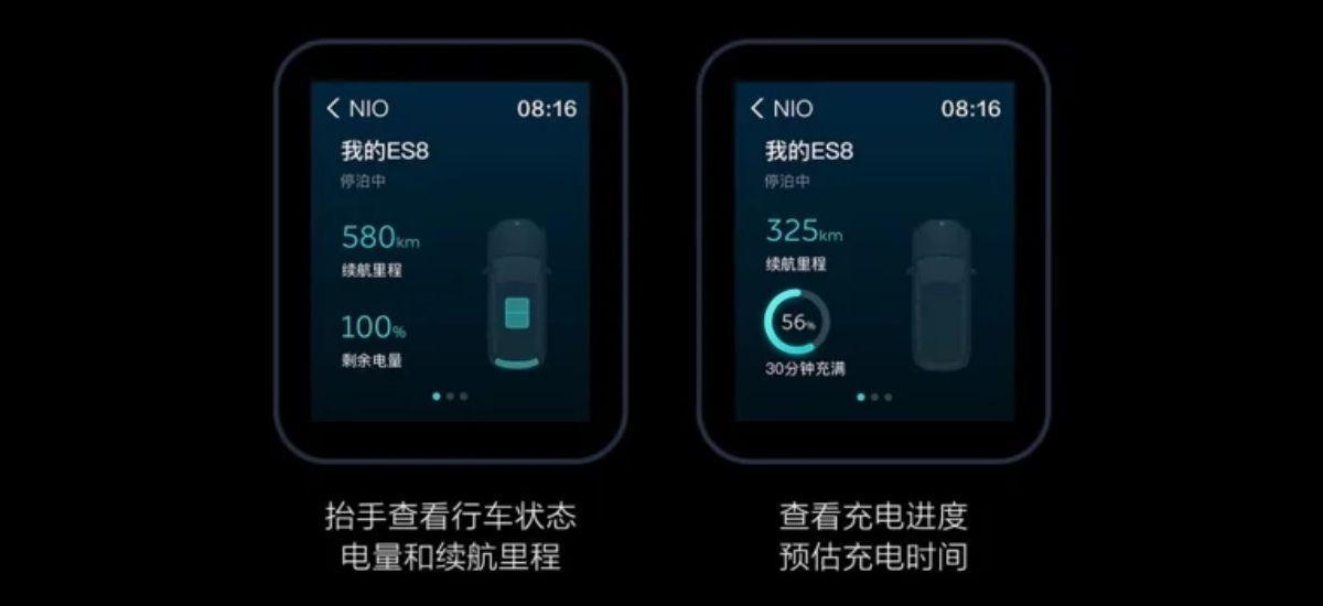 aplikacja do sterowania samochodem elektrycznym NIO