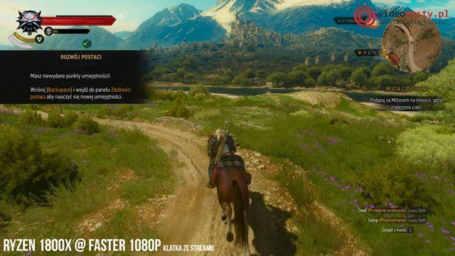 Ryzen 7 1800X w trybie Faster 1080p