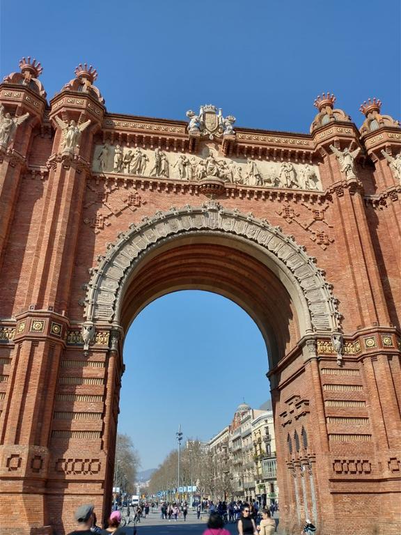 Łuk triumfalny w Barcelonie - zdjęcie w trybie HDR