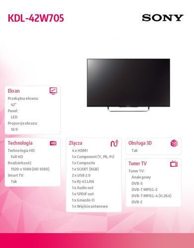 Sony 42'' LED KDL-42W705