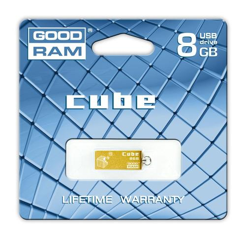 GoodRam Cube 8GB USB 2.0 Złoty