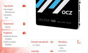 OCZ Vector 180 480GB SATA3 2,5' 550/530 MB/s 7mm
