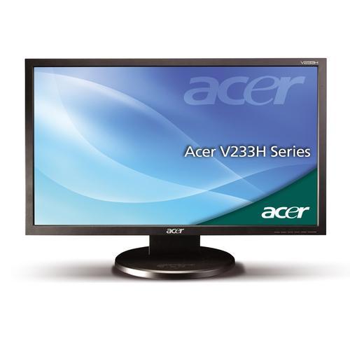 Acer 23'' LCD, 40000:1 DVI V233HBD czarny