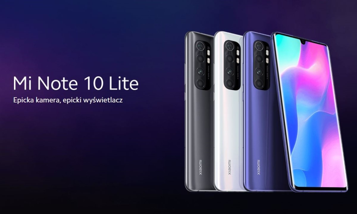 Xiaomi Mi Note 10 lite smartfon na grafice producenta