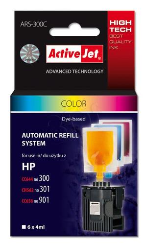 ActiveJet automatyczny system napełniania ARS-300Col trójkolorowy do HP 300/301/901 6x4ml