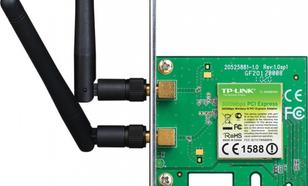 TP-LINK WN881ND karta WiFi N300 (2.4GHz) PCI-E 2x2dBi (SMA) BOX