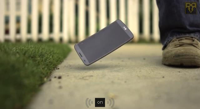 LG G Flex - crash test