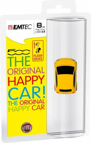 EMTEC Pendrive 8GB Fiat 500 Yellow F100