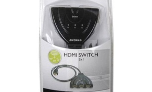 4World Switch HDMI 3x1 (HDMI V1.3) Pigtail Type