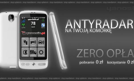 Yanosik Android - darmowy antyradar