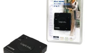 LogiLink Mini przełącznik wzmacniacza HDMI 3na1