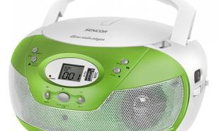 SENCOR Przenośne mikroradio z CD, SPT 229GN Radio/CD/MP3/USB-max 16GB