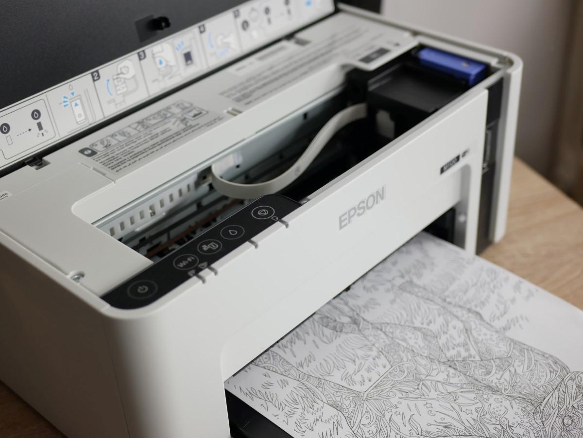 Odsłonięta głowica drukarki Epsona