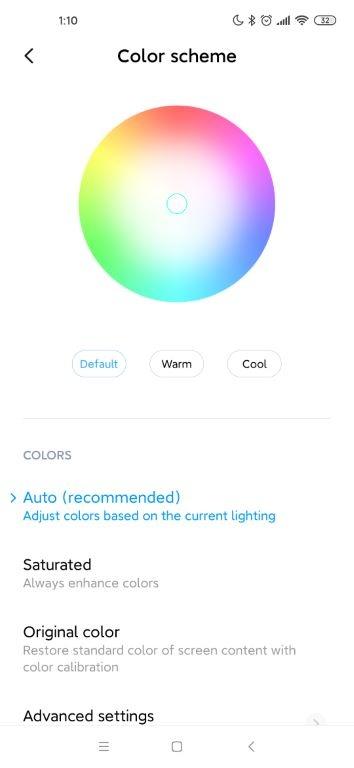 Opcje kolorystyczne podstawowe w Xiaomi Mi 10