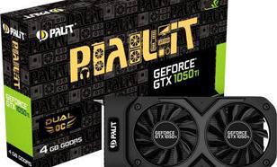 Palit GeForce GTX 1050 Ti DUAL OC 4GB GDDR5 (128 Bit) DVI-D, HDMI, DP, BOX (NE5105TS18G1D)