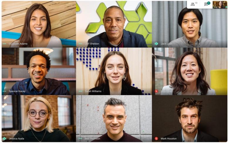 Darmowa wersja Google Meet pozwla na spotkania nawet 100 osób jednocześnie.