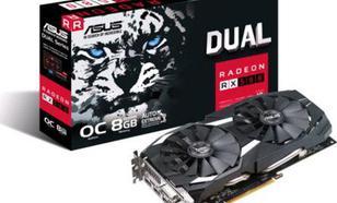 Asus Radeon Dual RX 580 OC 8GB GDDR5 (256 bit), DVI-D, 2xHDMI, 2xDisplayPort, BOX (DUAL-RX580-O8G)