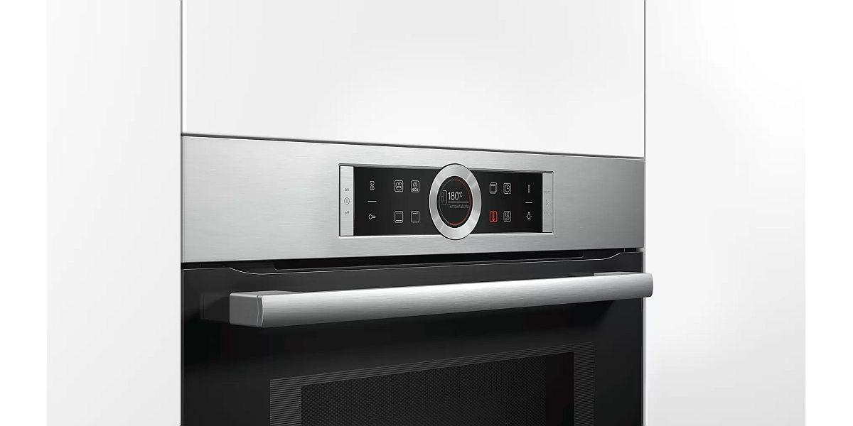 płaski panel sterowania piekarnika z mikrofalą Bosch