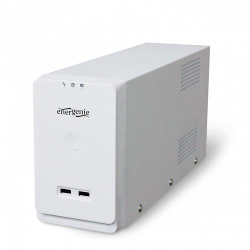 GEMBIRD UPS LINE-INTERACTIVE 650VA 2X IEC, 1X SCHUKO 230V, 2X USB WHITE
