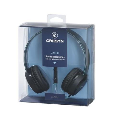 Cresyn C260H Słuchawki nauszne z mikrofonem i pilotem czarne
