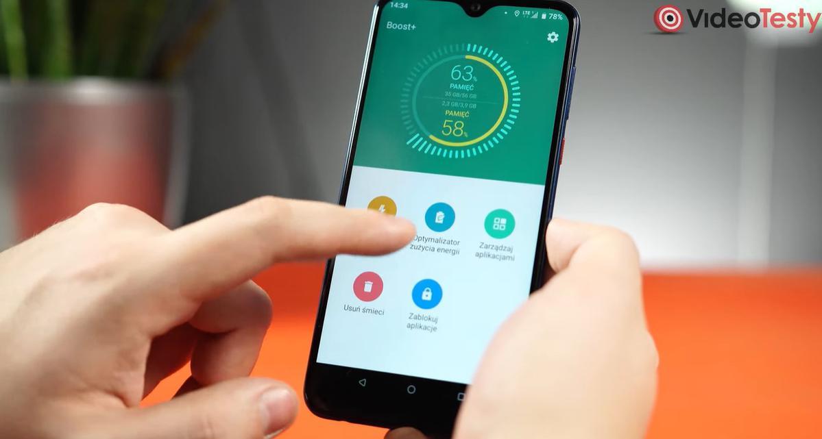 HTC Desire 19+ posiada Boost+ do optymalizacji systemu