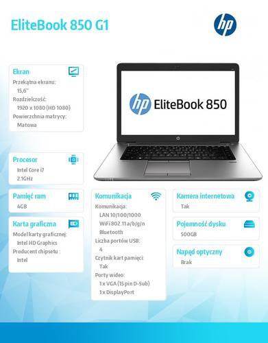 HP 850 i7-4600U W7/8P 500/4G/15,6 F1N40EA