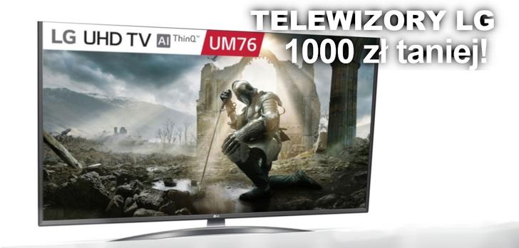 Promocje na telewizory LG - jeden model przeceniony o niecałe 1000zł!