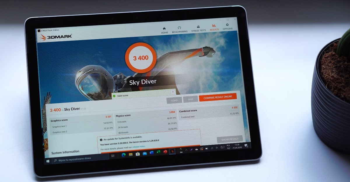 Wydajność Surface Go 2 jest dobra jak na tablet i zła jak na laptop