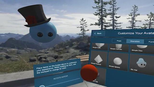 Tworzenie awatara Steam VR Home