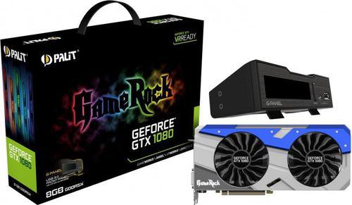 Palit GeForce CUDA GTX1080 GameRock z G-Panel 8GB GDDR5X (256 Bit) HDMI, DVI, 3xDP, BOX (NEB1080T15P2GP)