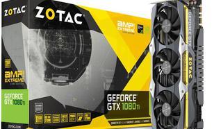 Zotac GeForce GTX 1080 Ti AMP Extreme Core Edition 11GB GDDR5X (352 bit), DVI-D, HDMI, 3xDisplayPort, BOX (ZT-P10810F-10P)