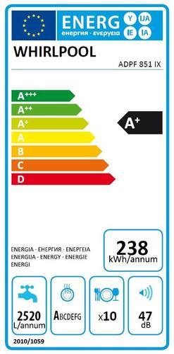 Whirlpool Zmywarka ADPF851IX