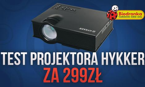 Hykker Vision 130 - Test Projektora z Biedronki za 299 zł!